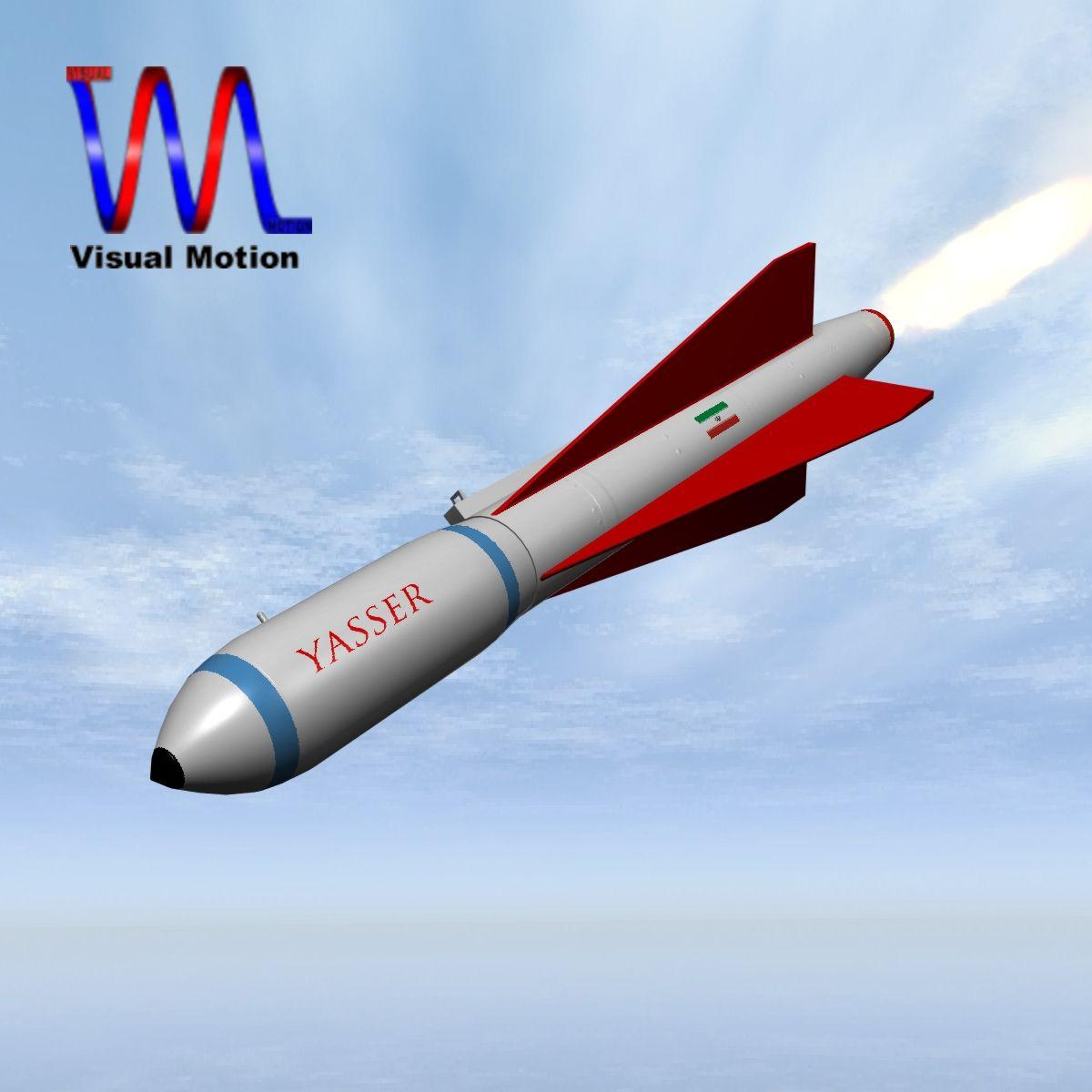 Irānas yasser asm raķete 3d modelis 3ds dxf cob x obj 150562