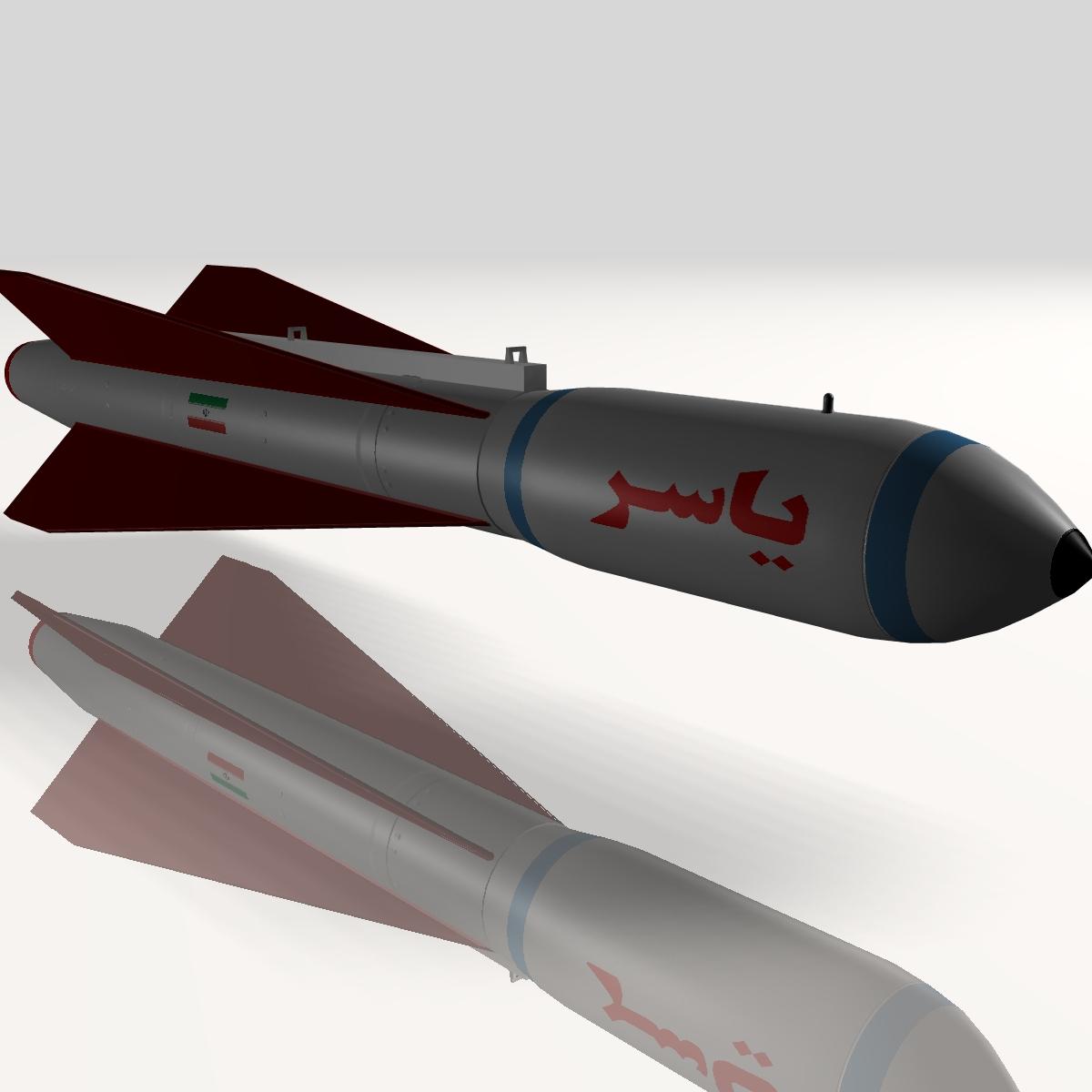 iranian yasser asm missile 3d model 3ds dxf cob x obj 150563