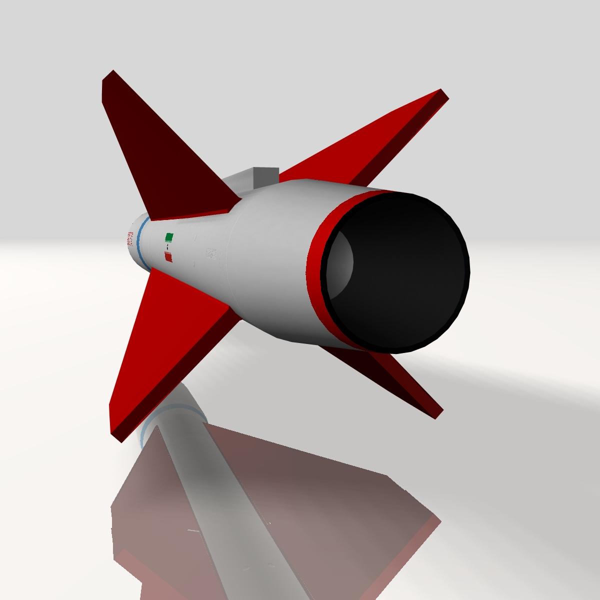 iran yasser asm raketi 3d modeli 3ds dxf cob x obj 150565