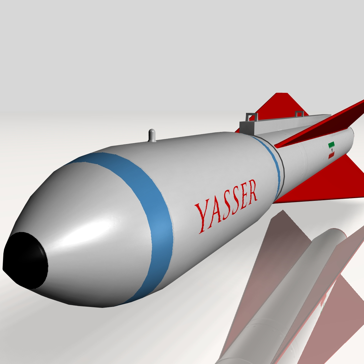 iranian yasser asm missile 3d model 3ds dxf cob x obj 150566