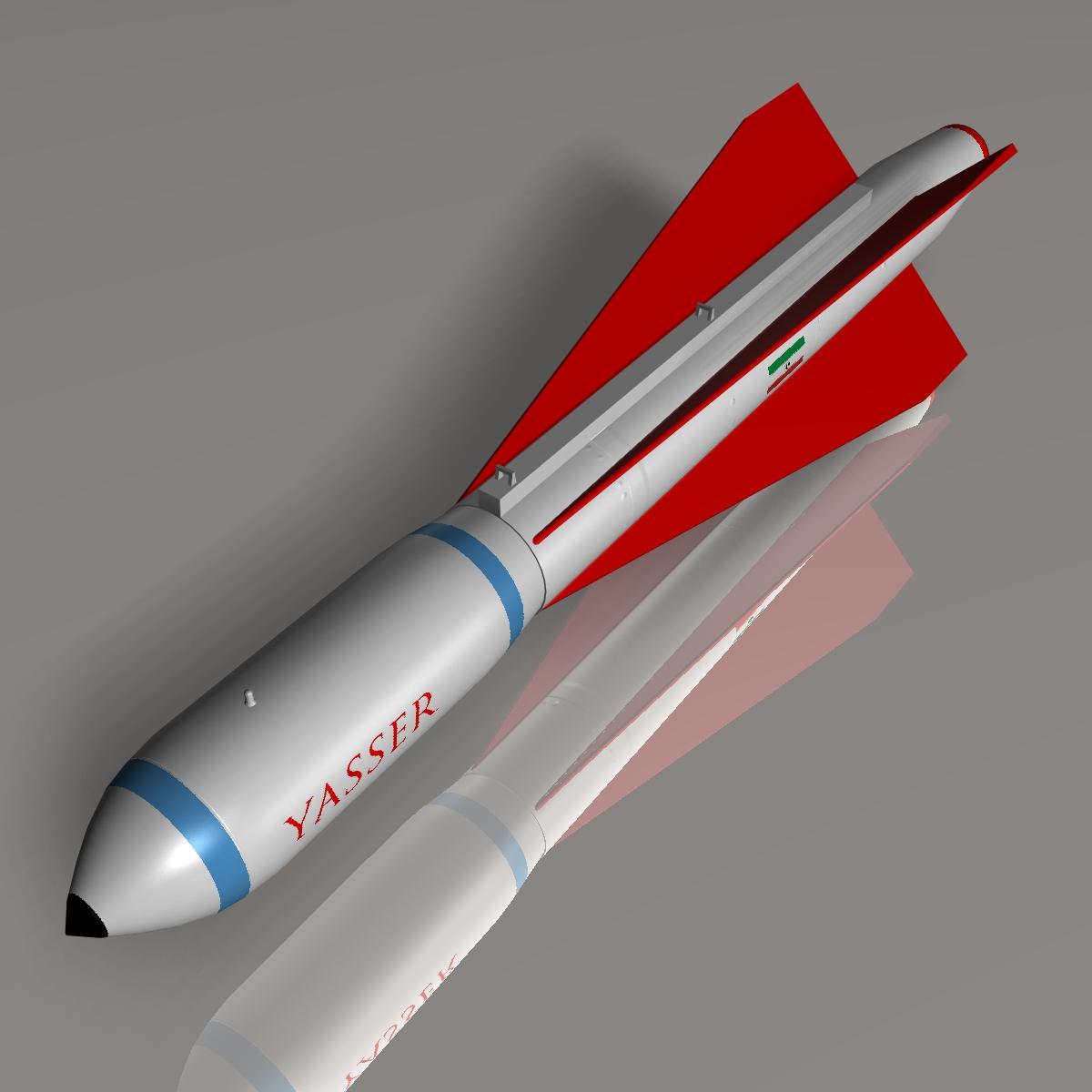 iranian yasser asm missile 3d model 3ds dxf cob x obj 150567