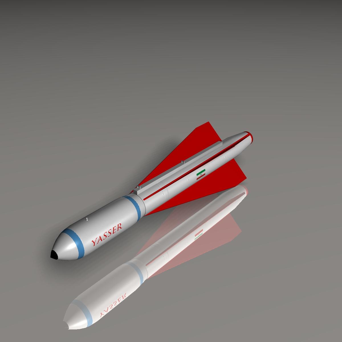 iranian yasser asm missile 3d model 3ds dxf cob x obj 150568