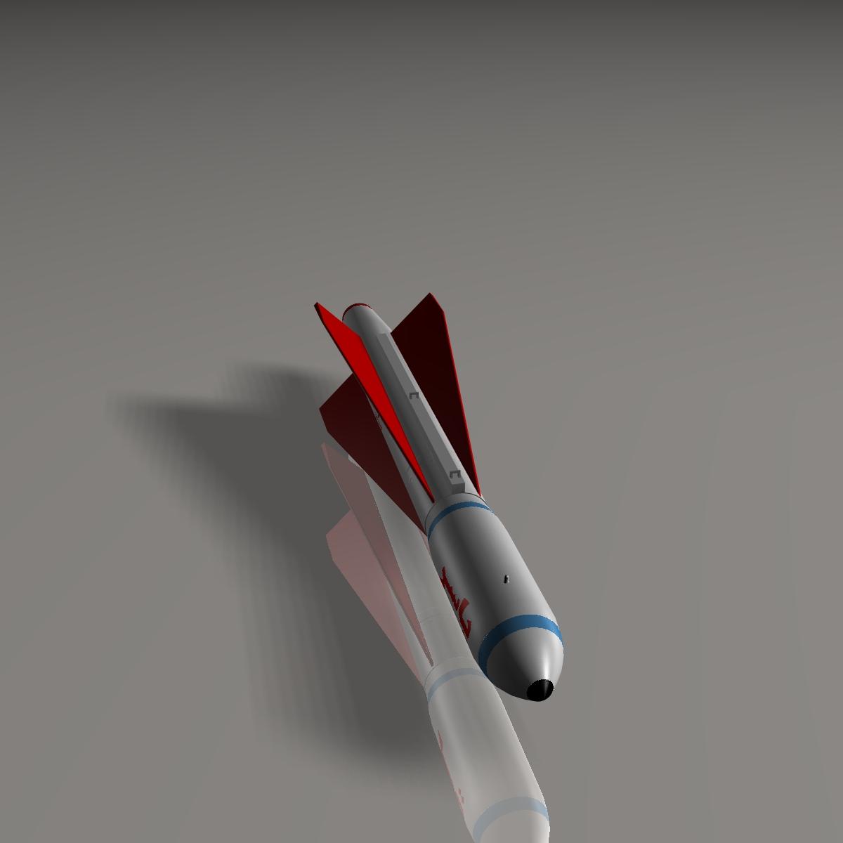 iranian yasser asm missile 3d model 3ds dxf cob x obj 150569