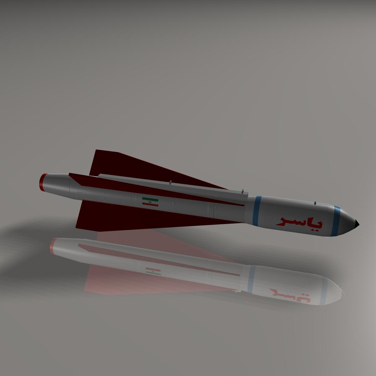 iranian yasser asm missile 3d model 3ds dxf cob x obj 150570