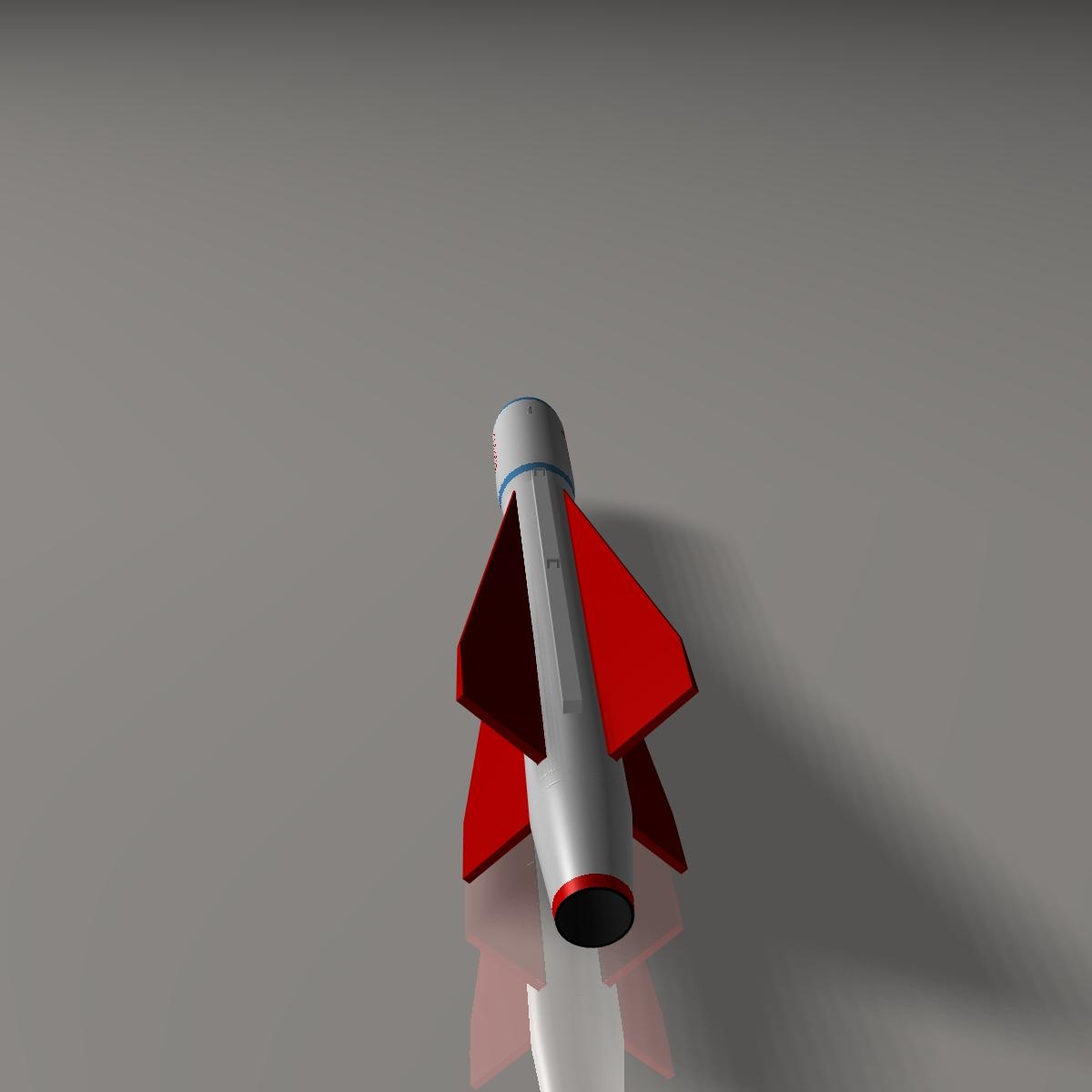 iranian yasser asm missile 3d model 3ds dxf cob x obj 150572