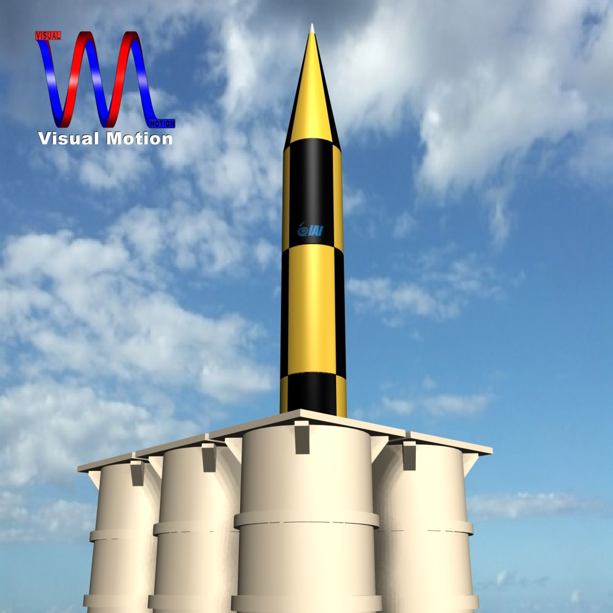 israeli arrow 3 missile 3d model 3ds dxf cob x other obj 136280