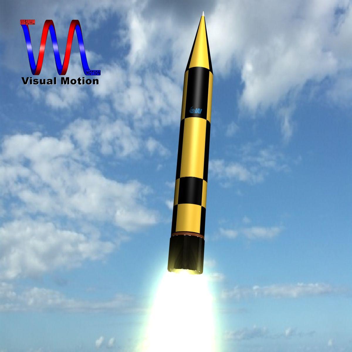 israeli arrow 3 missile 3d model 3ds dxf cob x other obj 136281