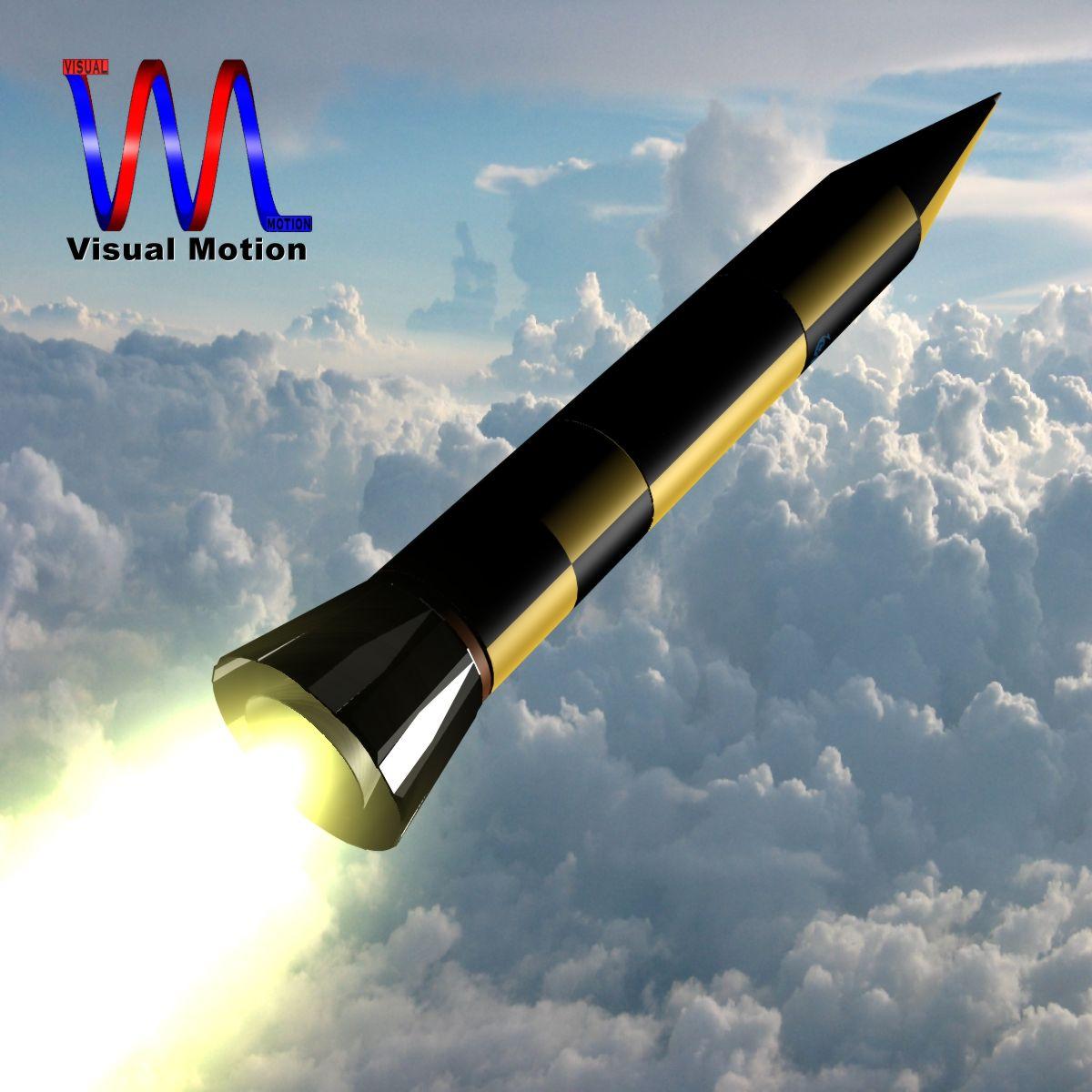 israeli arrow 3 missile 3d model 3ds dxf cob x other obj 136282
