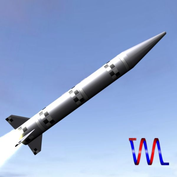 israeli black sparrow missile 3d model 3ds dxf cob x obj 150648