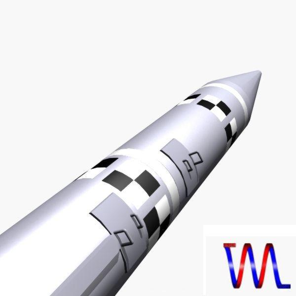 israeli black sparrow missile 3d model 3ds dxf cob x obj 150649