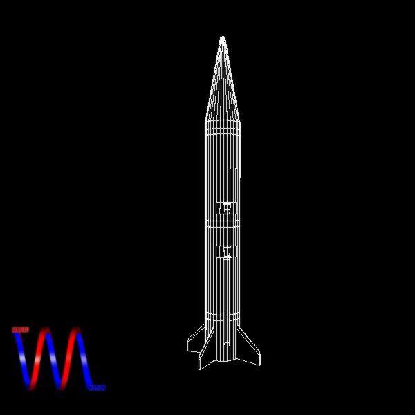 israeli black sparrow missile 3d model 3ds dxf cob x obj 150653