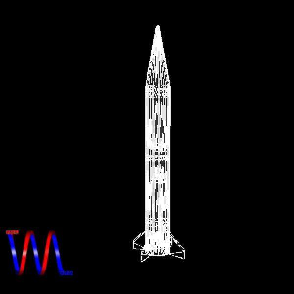 israeli black sparrow missile 3d model 3ds dxf cob x obj 150654