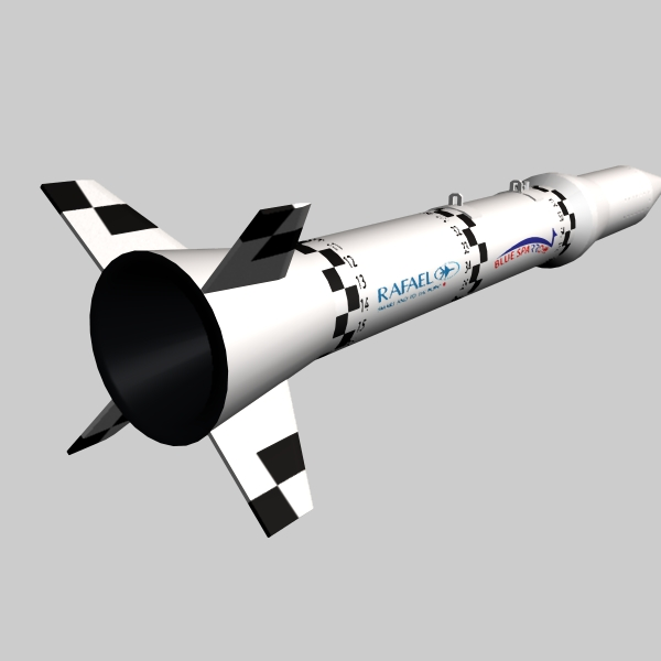 israeli blue sparrow missile 3d model 3ds dxf cob x obj 150659