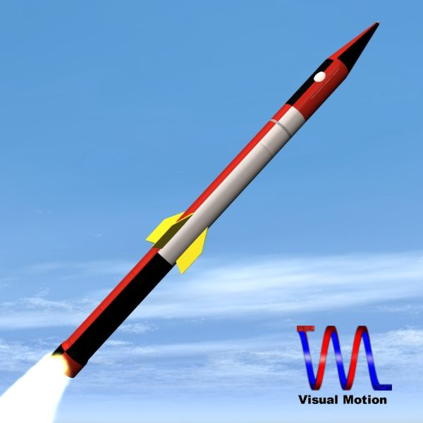 israeli jericho i ballistic missile 3d model 3ds dxf cob x obj 151080