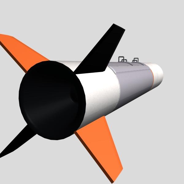 israeli silver sparrow missile 3d model 3ds dxf cob x obj 150667