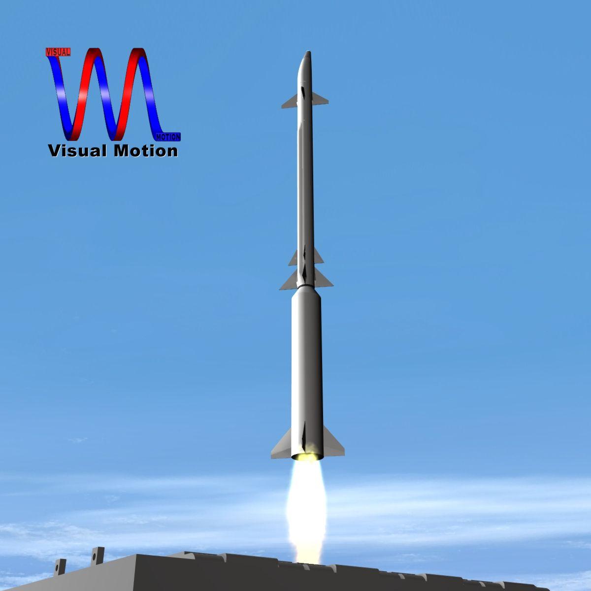 Izraēlas stunner raķete 3d modelis 3ds dxf cob x obj 150541