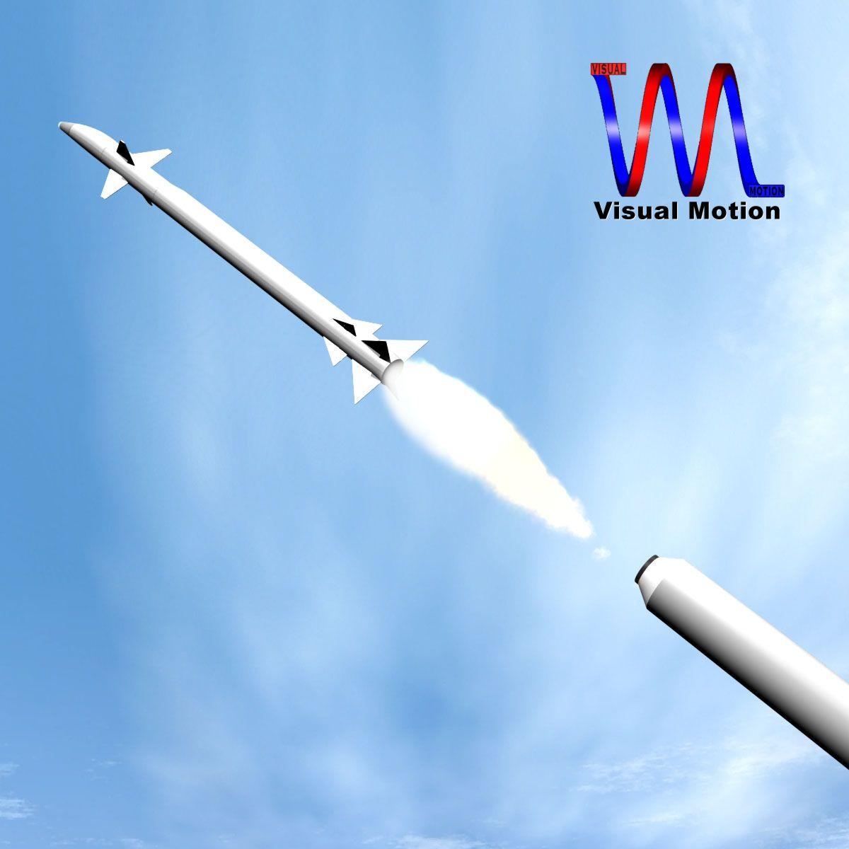 israeli stunner missile 3d model 3ds dxf cob x obj 150542