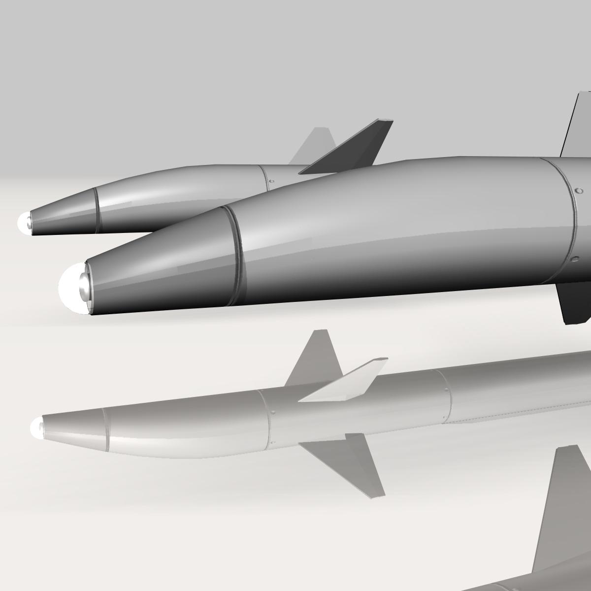 israeli stunner missile 3d model 3ds dxf cob x obj 150543