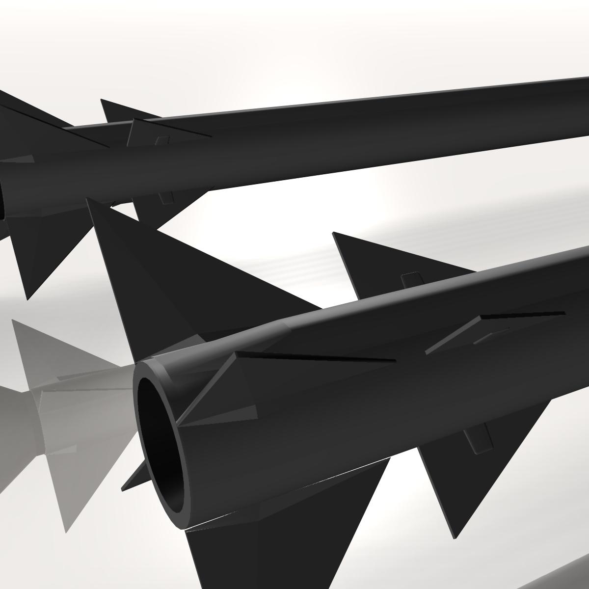 israeli stunner missile 3d model 3ds dxf cob x obj 150545
