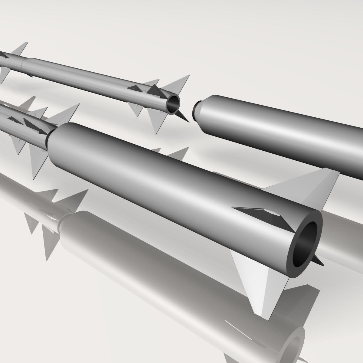 israeli stunner missile 3d model 3ds dxf cob x obj 150546