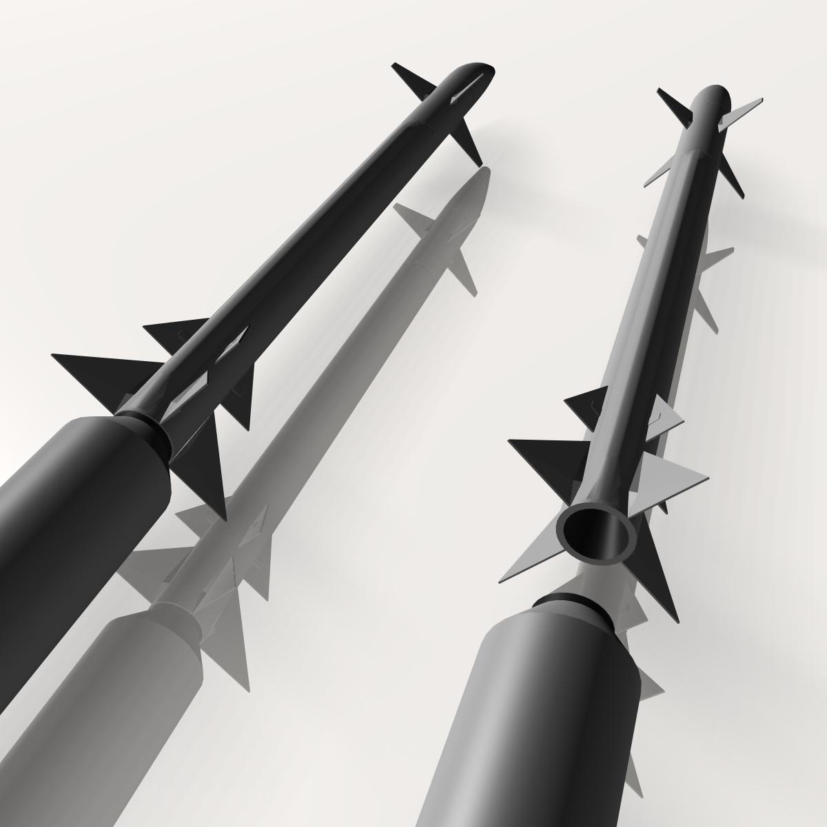 israeli stunner missile 3d model 3ds dxf cob x obj 150547