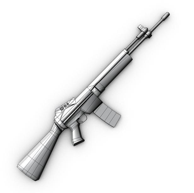 m96 mūsdienu šautene 3d modelis 3ds max fbx c4d obj 138695