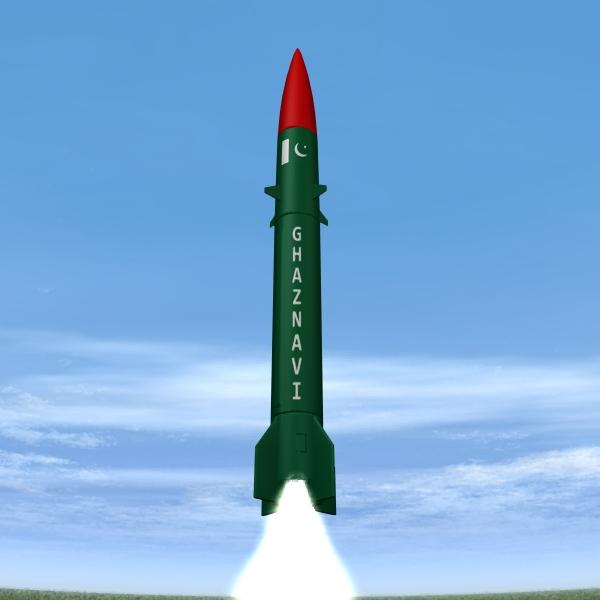 pakistan hatf-3 missile 3d model 3ds dxf cob x obj 140230
