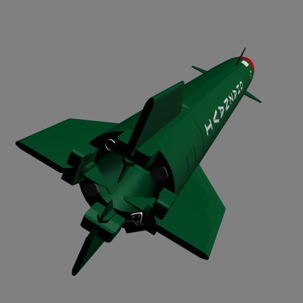 pakistan hatf-3 missile 3d model 3ds dxf cob x obj 140231