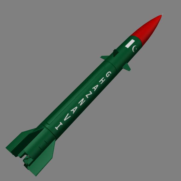 pakistan hatf-3 missile 3d model 3ds dxf cob x obj 140233