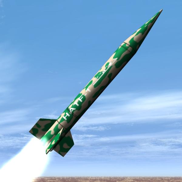 pakistan hatf-i bsrsm missile 3d model 3ds dxf cob x obj 140188