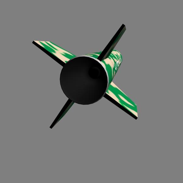 pakistan hatf-i bsrsm missile 3d model 3ds dxf cob x obj 140191