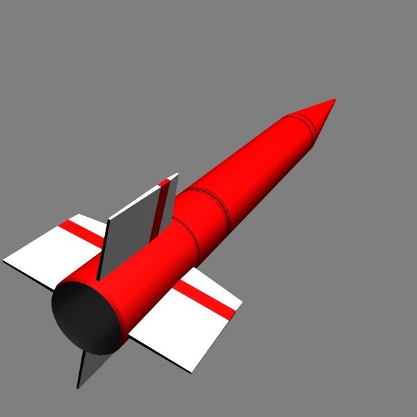 pakistan hatf-ib bsrsm missile 3d model 3ds dxf cob x obj 140197