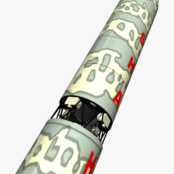 pakistan hatf-vi mrbm missile 3d model 3ds dxf cob x obj 140207