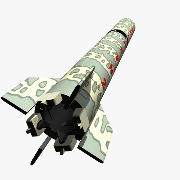 pakistan hatf-vi mrbm missile 3d model 3ds dxf cob x obj 140208