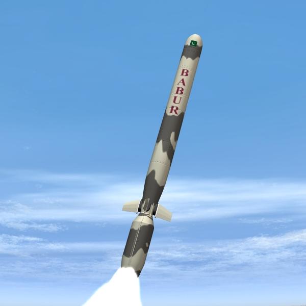 "pakistan hatf-vii ""babur"" krstareća raketa 3d model 3ds dxf cob x obj 140212"