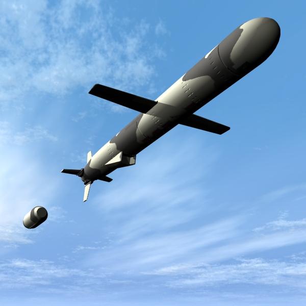 "pakistan hatf-vii ""babur"" cruise missile 3d model 3ds dxf cob x obj 140213"