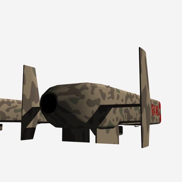 "pakistan hatf-viii ""ra'ad"" cruise missile 3d model 3ds dxf cob x obj 140245"
