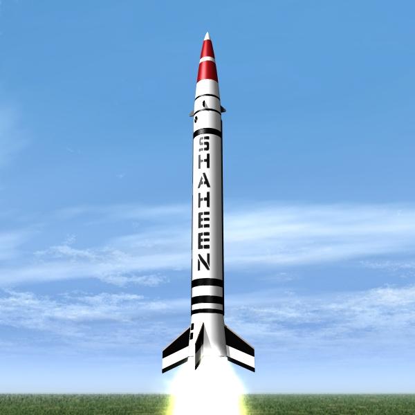 pakistani hatf-iv srbm 3d model 3ds dxf x cod scn obj 133180