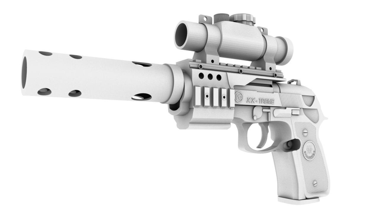 pistol 3d model 129037