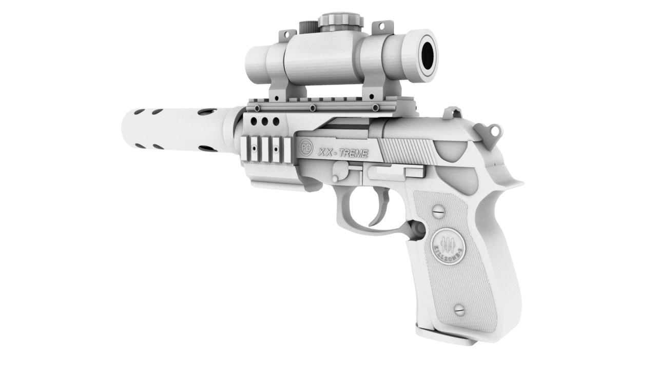 pistol 3d model 129038