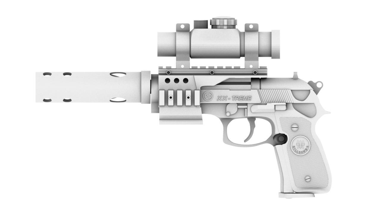 pistol 3d model 129039