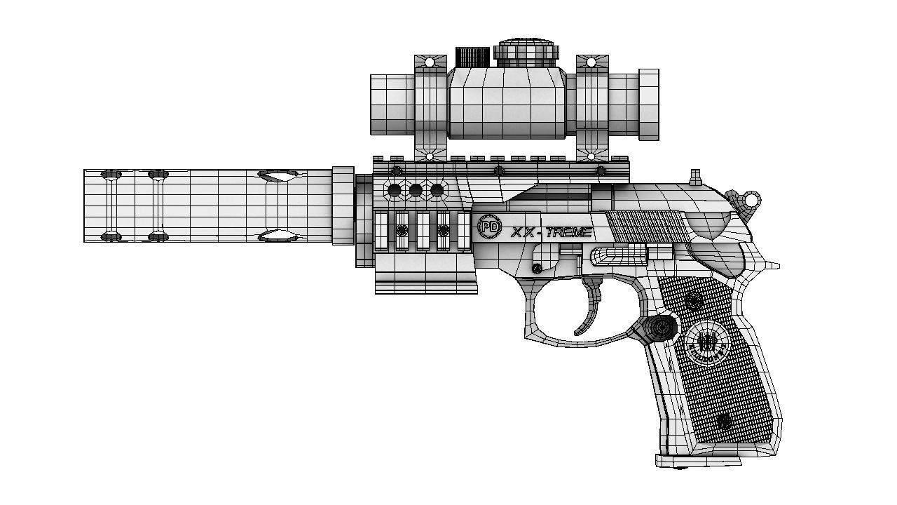 pistol 3d model 129040