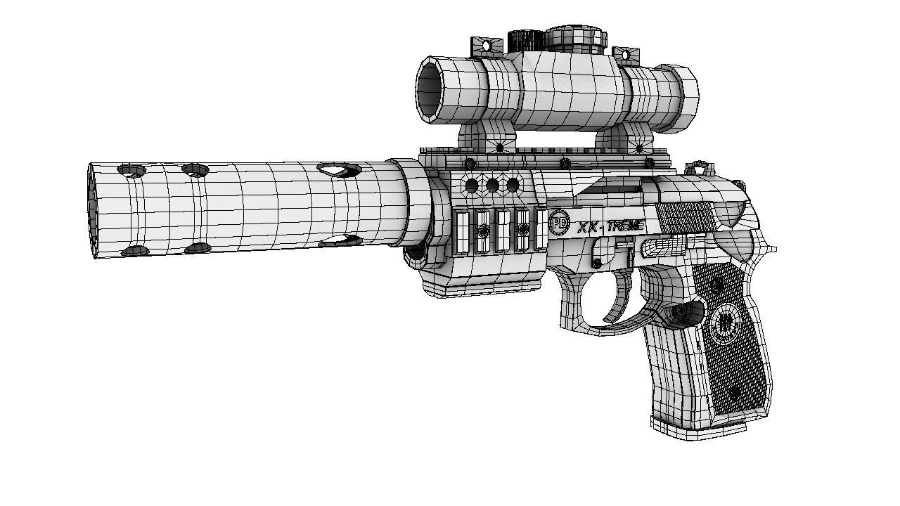 pistol 3d model 129041