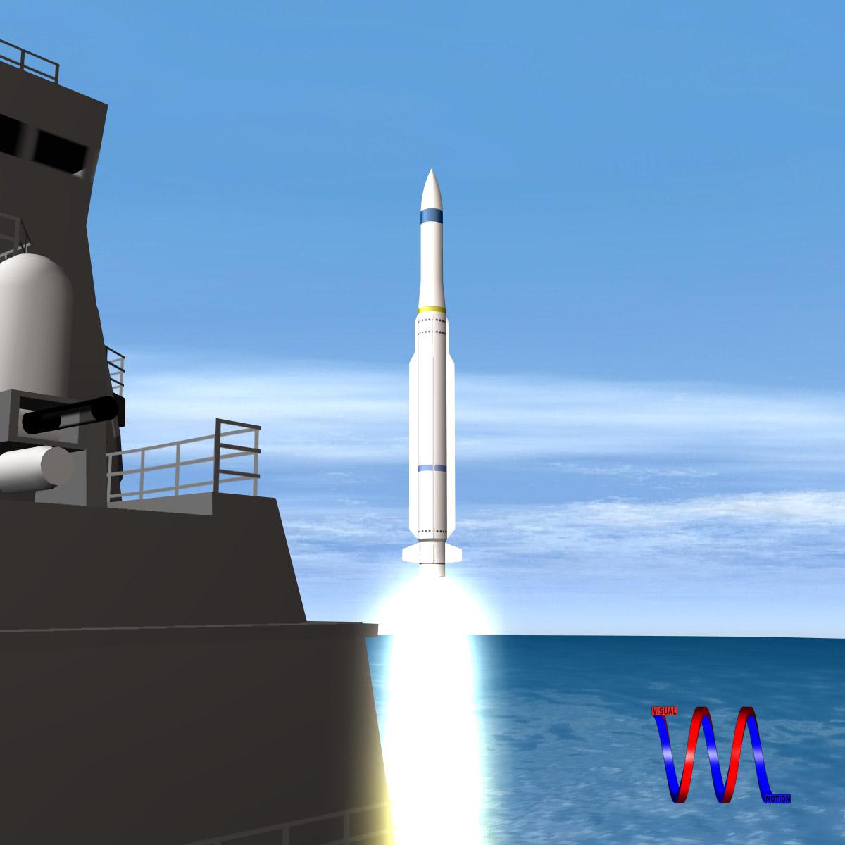 rim-162 essm missile 3d model 3ds dxf fbx blend cob dae x  obj 166018