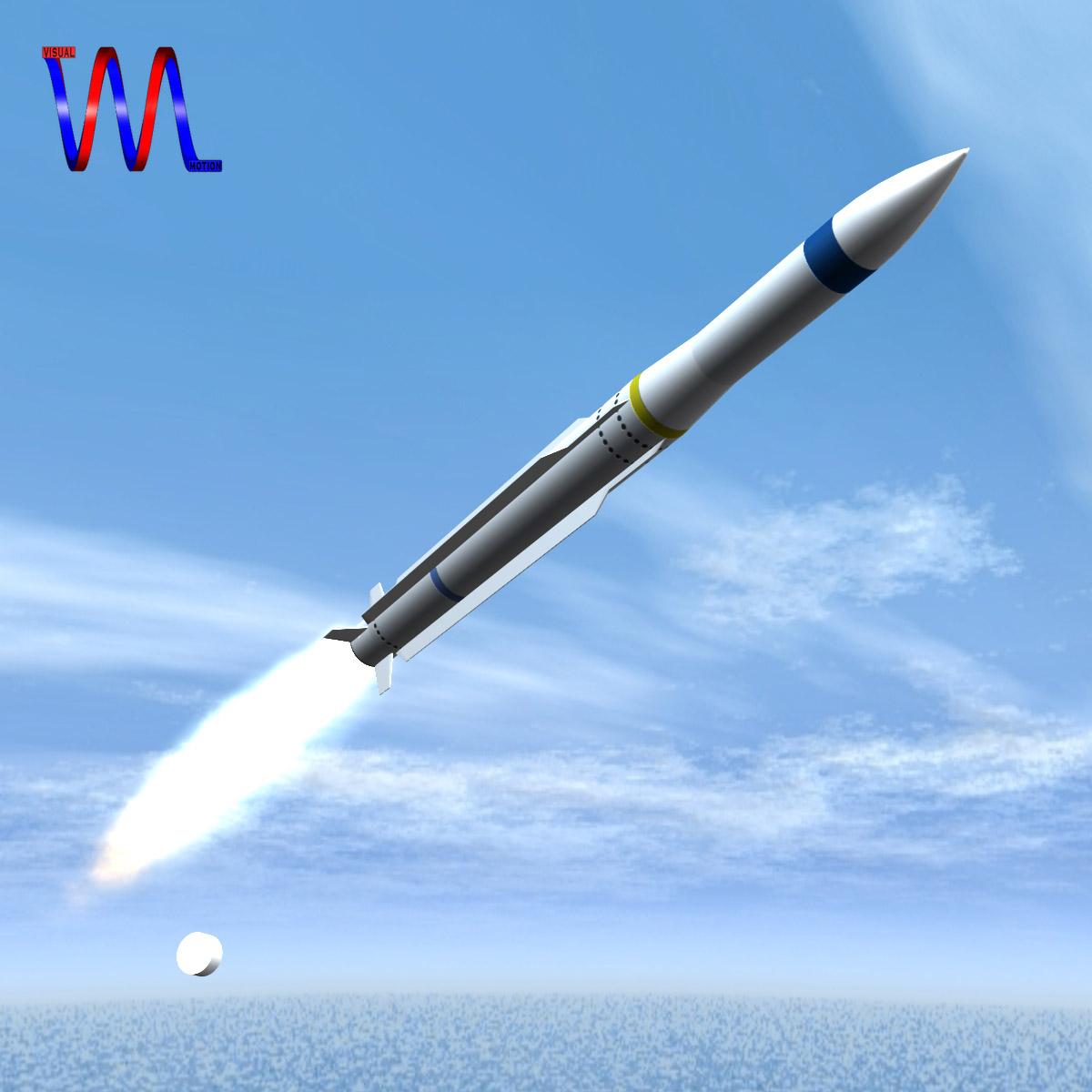 RIM-162 ESSM Missile 3d model 3ds dxf fbx blend cob dae X  obj 166019