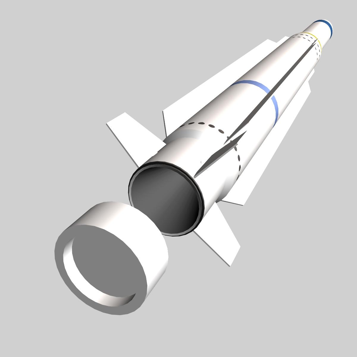 RIM-162 ESSM Missile 3d model 3ds dxf fbx blend cob dae X  obj 166022