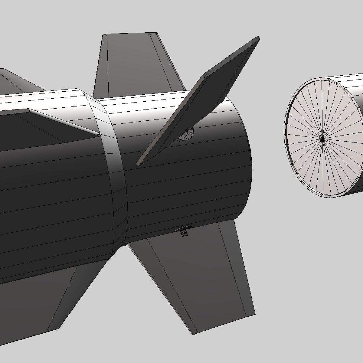 RIM-162 ESSM Missile 3d model 3ds dxf fbx blend cob dae X  obj 166029