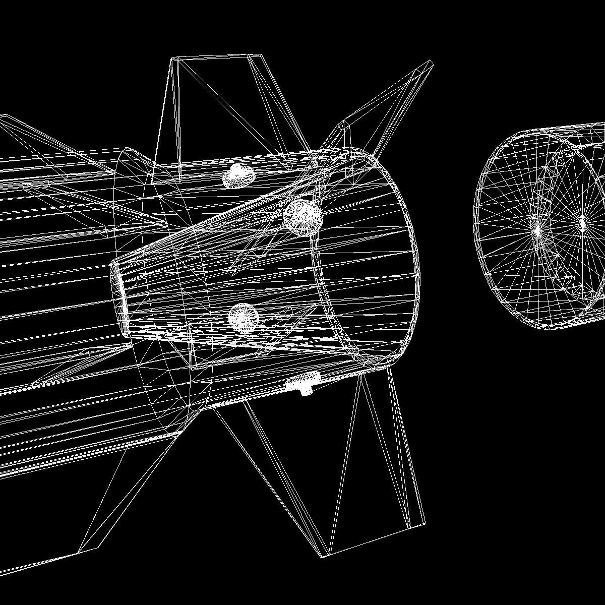 RIM-162 ESSM Missile 3d model 3ds dxf fbx blend cob dae X  obj 166034
