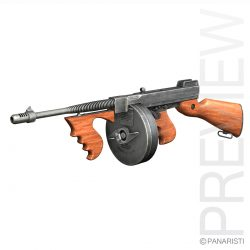 Thompson Model 1928 Submachine Gun ( 225.33KB jpg by Panaristi )