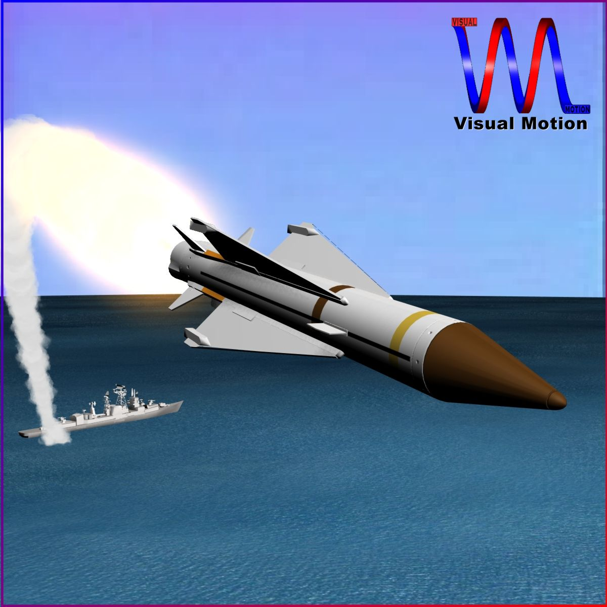 uk sea wolf missile 3d model 3ds dxf cob x obj 153048